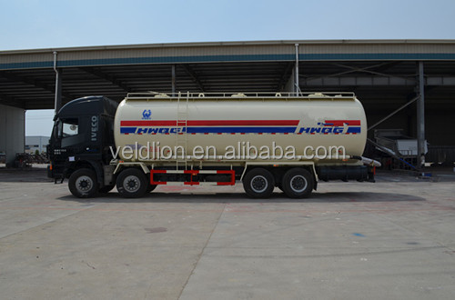 8*4 heavy powdery material truck for coal, dry bulk cement transportation