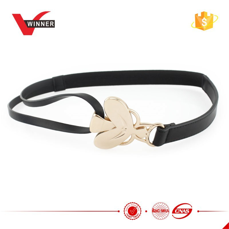 Skinny Metal Elastic belts for dress