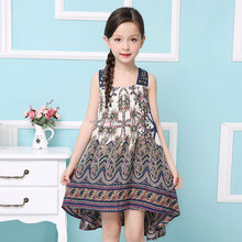 Baby Girls Summer Dress 2016 New Brand Kids Print Party Dress for Girls Children Bohemian Fashion Clothes