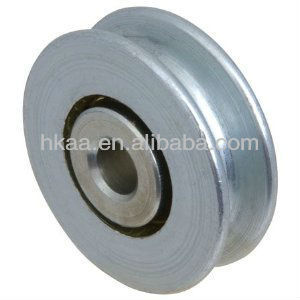aluminum cable pulley wheel with stainless steel insert cnc customized factory