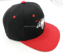 6 panel 3d embroidery caps custom snapback