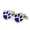 Lovely blue sliver footprint style cufflinks
