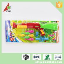 Plastic newest solid color children funny ping pong ball shooting gun toy