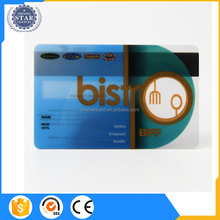 Clear Food Discount Card With Magnetic Stripe