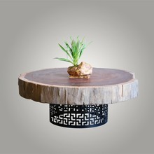 Simpli Home Collection Solid Wood End Table, Metal bottom