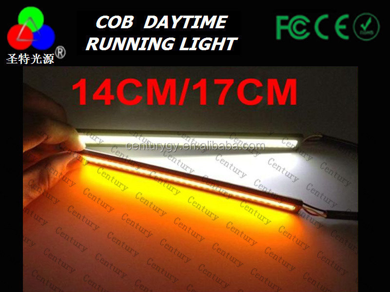 6W High quality car cob led drl Waterproof daytime running light with 1 year warranty