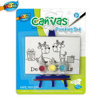 Toys 2015 Non-toxic Wholesale Canvas Painting Set Cheap Portable Kids&Artists A0372