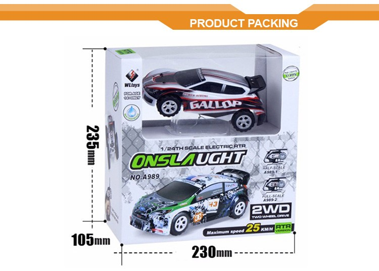 Wltoys A989 Remote Control Toys 5CH Speeds 25KM/H 2.4G 1:24 Rechargeable Cars RC Kids Audio Car