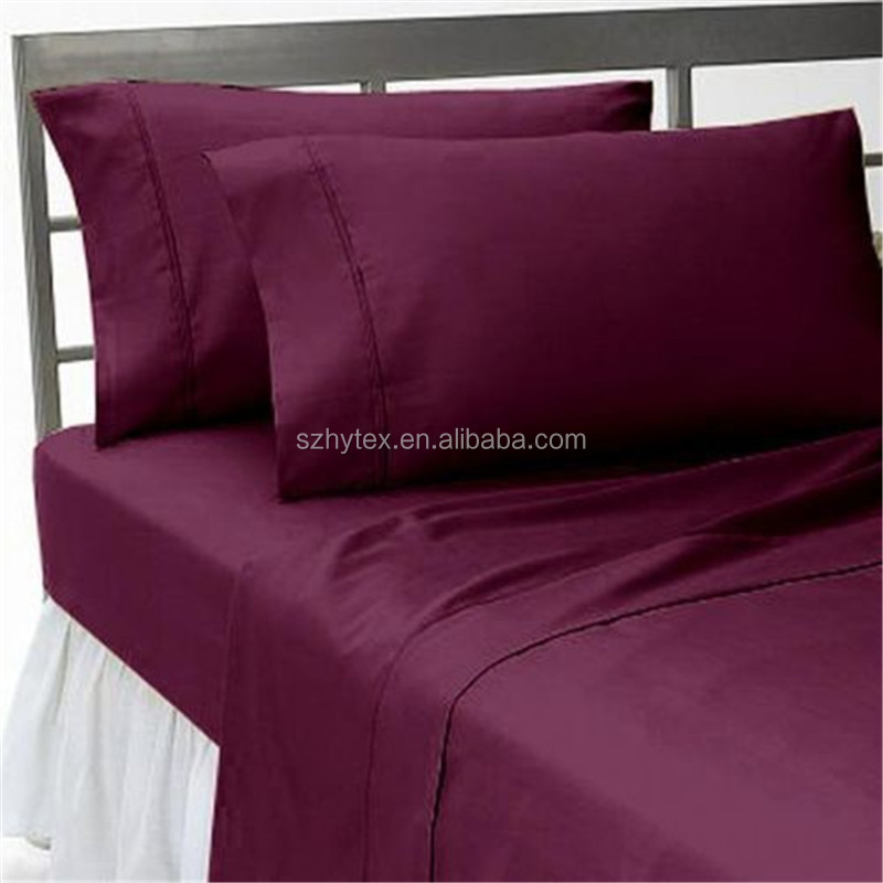 WINE SOLID 1000 TC 100%Egyptian Cotton Bedding Items ALL UK BED SIZE! SCALA