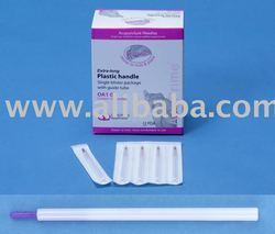 acupuncture needle OA1G Plastic Single with insertion tube