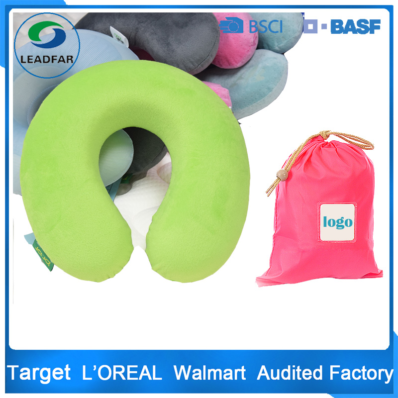 Personalized portable U shape memory foam car neck roll support travel rest pillow