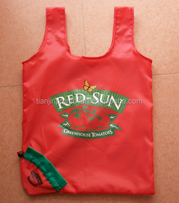 polyester fruit vegetable reusable foldable shopping bags