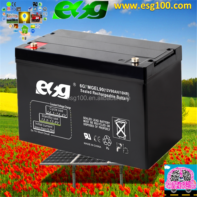 Solar Battery Gel Battery 12V 90ah UPS battery for home and outdoor use