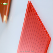 3mm colored 4x8 plastic twin wall lexan polycarbonate sheet