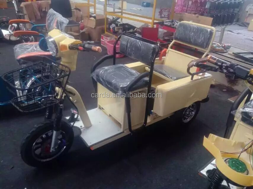 folding electric tricycle three wheels for passenger e-rickshaw for passenger