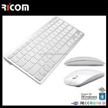 2017 Fashion computer laptop keyboard mini wireless keyboard Mini Bluetooth keyboard--BK117--Shenzhen Ricom