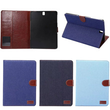 Fashion genuinel real table cowboy leather wallet case for Tab S3 9.7 T820