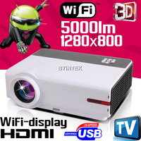 Optional Android ATV Home Theater Full HD 1080p 3D LED Projector HDMI LCD Projector