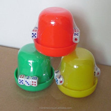 Combination circular color screen color dice cup cup cup set with five dice Hotel Supplies