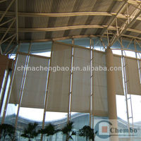 2014 latest fire retardant outdoor clear plastic roller blinds
