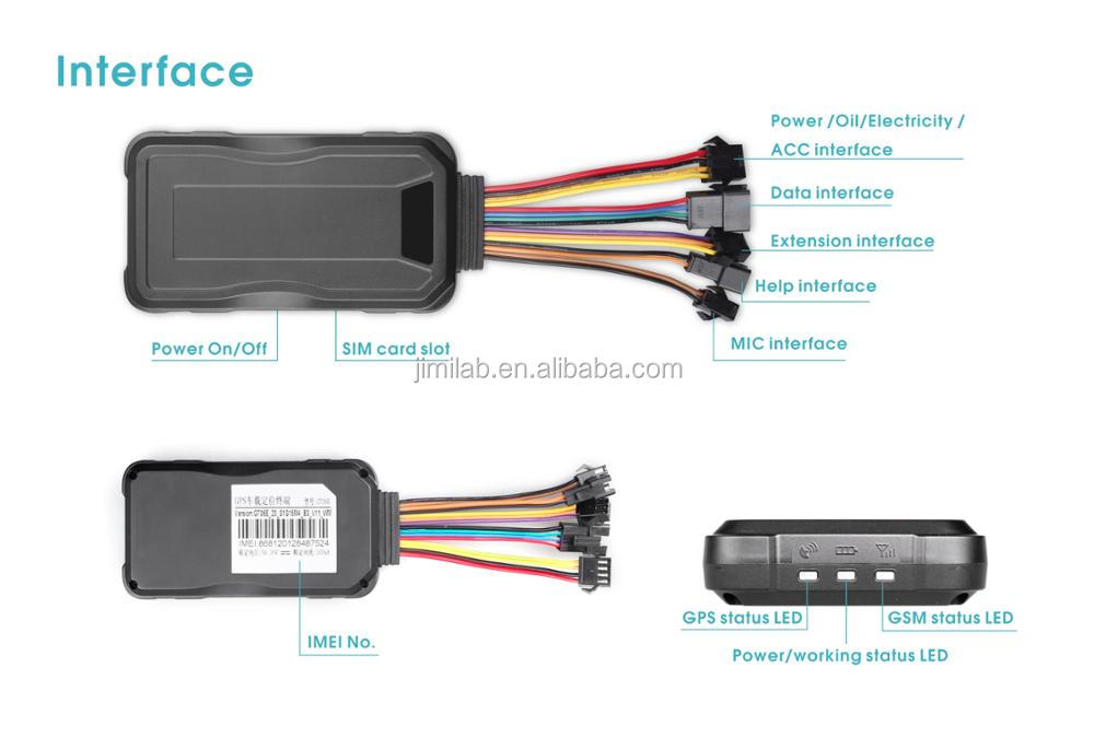 WCDMA&GSM network Gps 3g device GT06E CONCOX Car tracking with gsm backup battery