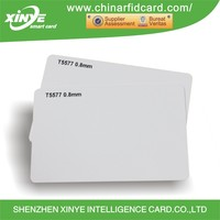 Wholesale Custom 13.56mhz Offset Printable Blank White PVC Access Control Smart Rfid Card