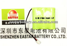 3.6v 300mah nimh cordless phone battery 2/3aaa