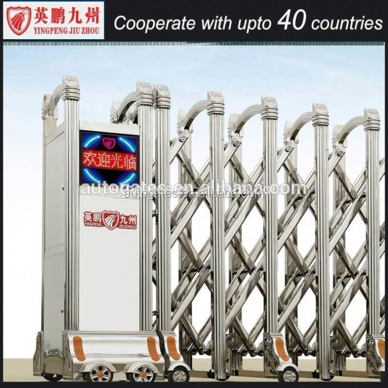 Modern steel gates expanded stainless gate sliding door motor gate