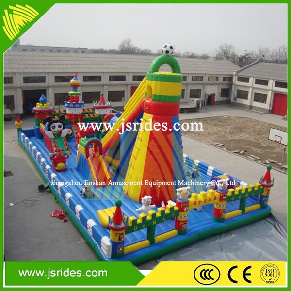mobile outdoor kids inflatable park commercial children inflatable playground on sale