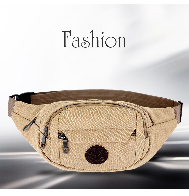 New design factory canvas waterproof waist bag backpack sling chest bag