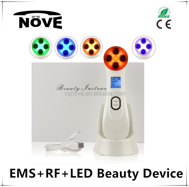 2016 EMS+RF+LED home use beauty facial instrument beauty machine for muscle tone electronic muscle stimulation device