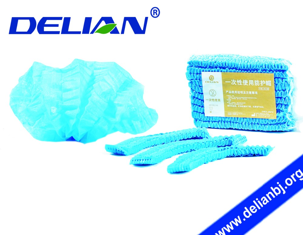 Delian Dental Non-woven Surgical Head Caps Disposable Ethylene Oxide Sterilized Sterile