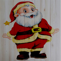 christmas ornaments Wooden painting board
