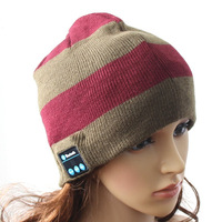 Superior Soft Stripe Hat Wireless Bluetooth Smart Cap Headset Headphone Speaker Mic Earphone C1