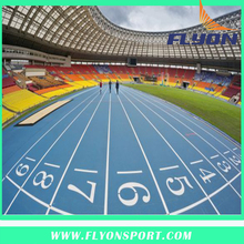 IAAF certificated Approved Prefabricated athletic track mat Plastic flooring Type and ourdoor usage running track Prefabricated