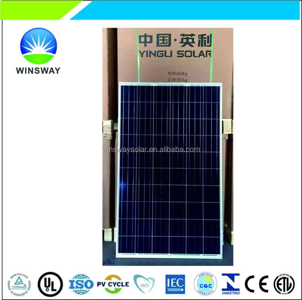 255W Yingli Solar Panel PV module with CE/TUV/UL Certificates