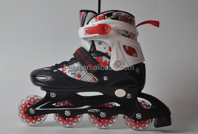 Durable and safety size adjustable inline skating shoes for kids with ce quality QC