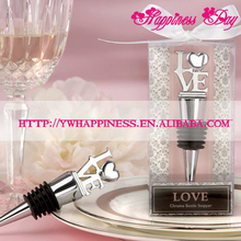 Home Party Practical Favor LOVE Wine Bottle Stopper For Wedding Christening Party Favours