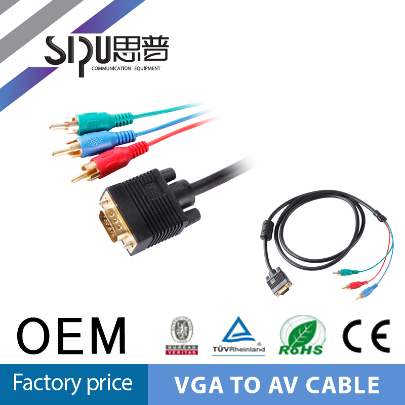 SIPU Factory price good quality vga rca red white yellow rca and vga jack