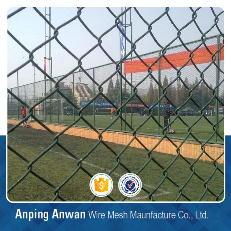9 gauge pvc coated chain link wire mesh fence