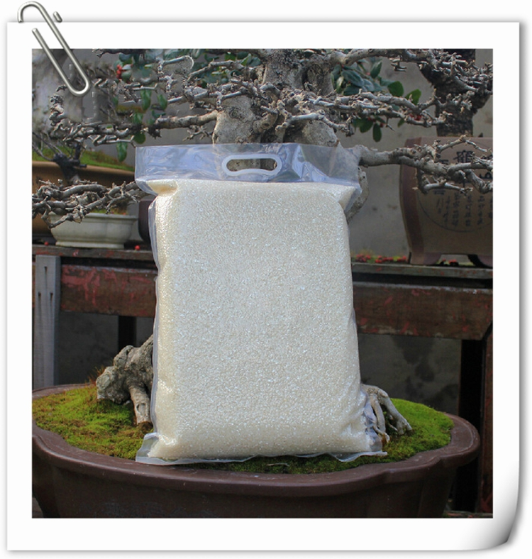 custom printed PA PE Laminated material heavy duty 20kg 25kg plastic rice packaging vacuum sealed bag with patch handle
