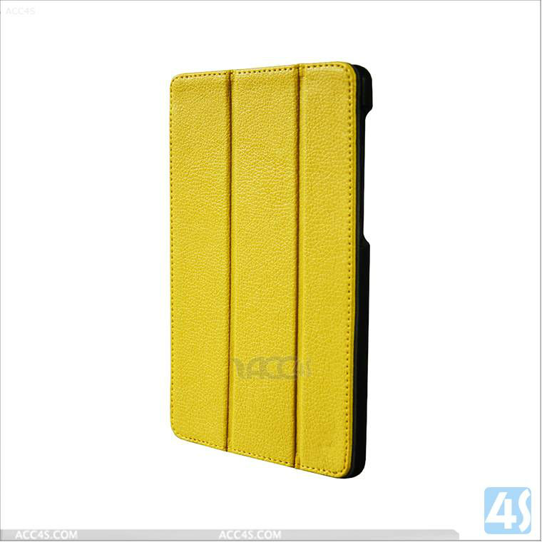 Three folding leather case for Google Nexus 7 2nd/2/II/second generation P-GGNEXUS7IICASE014
