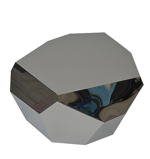 modern polygon stainless steel coffee table