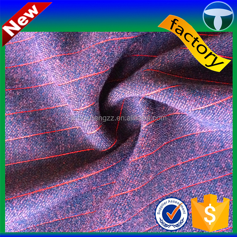 T R satin stripe fabric double face fabric used to make striped shirt