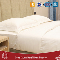 FFG 400T plain white queen size 5 star hotel egyptian cotton bed sheets wholesale