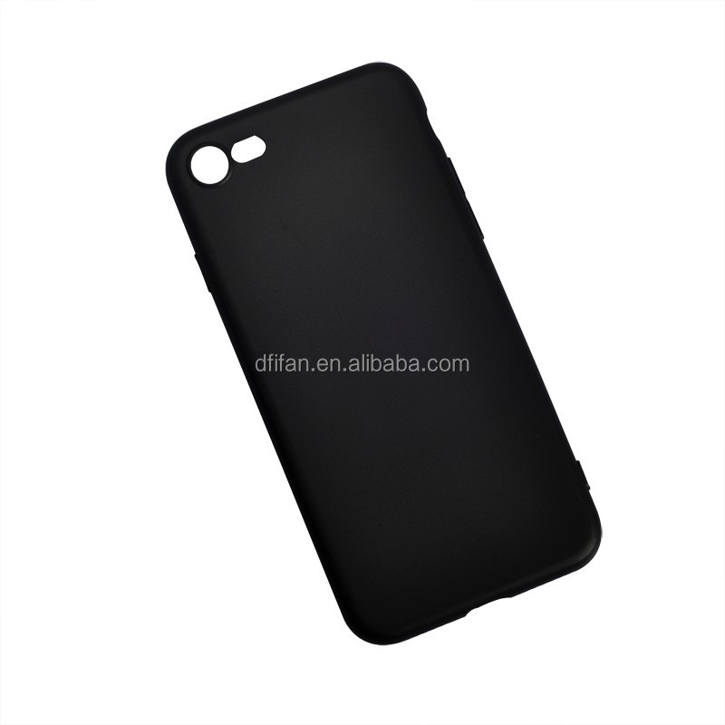 DFIFAN Cool Design Soft Matte Black TPU Phone Case For Apple iPhones 7 8 , For iphone 7 7 plus Plastic Cover
