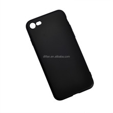DFIFAN Cool Design Soft Matte Black TPU Phone Case For Apple iPhones , For iphone 7 7 plus Plastic Cover