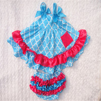 china low wholesale High Quality ruffle swing outfits for 6months -4years baby kids