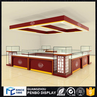 luxury modern style wooden jewellery showroom counter designs for products display