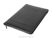 Zipper Closure PU/PVC Leather A4 Note Pad Holding Presentation Portfolio